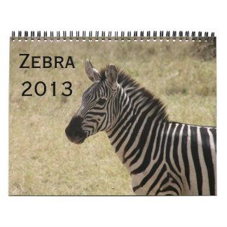 calendario de la cebra 2013