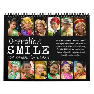 Calendario de la cita de la sonrisa 2014 de la ope