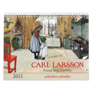 Calendario de la cocina 2015 de la comida y de la