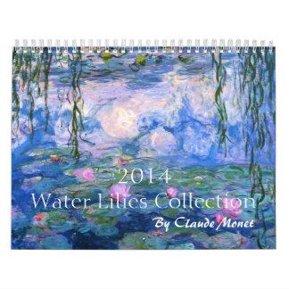 Calendario de la colección de 2014 lirios de agua