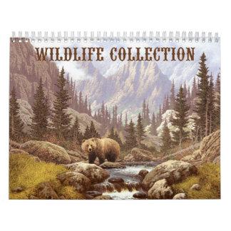 Calendario de la colección de la fauna