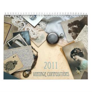 Calendario de la composición 2011 del vintage