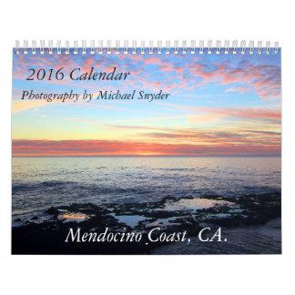 Calendario de la costa 2016 de Mendocino