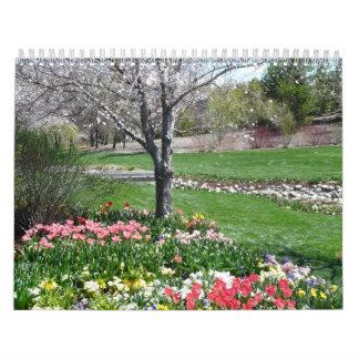 calendario de la cubierta de la primavera