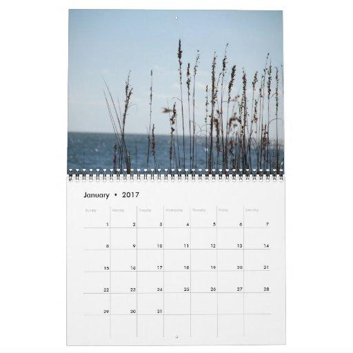 Calendario de la escena de la playa