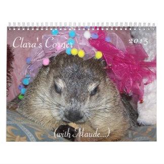 Calendario de la esquina 2015 de Groundhog de