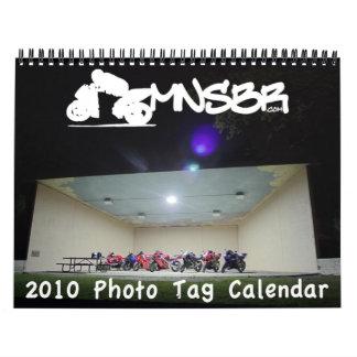 Calendario de la etiqueta de la foto de 2010 MNSBR