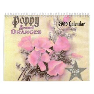 Calendario de la etiqueta de la producción