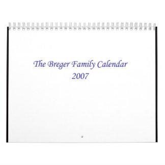 Calendario de la familia de Breger