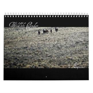 Calendario de la fauna - equino