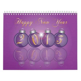 Calendario de la Feliz Año Nuevo 2013