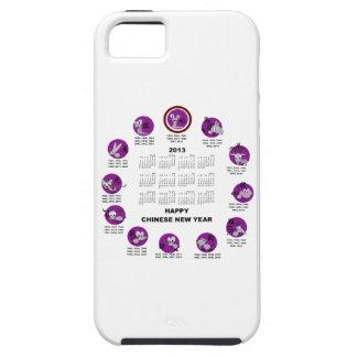 Calendario de la Feliz Año Nuevo del zodiaco de 20 iPhone 5 Case-Mate Protector
