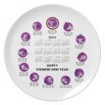 Calendario de la Feliz Año Nuevo del zodiaco de 20 Platos Para Fiestas