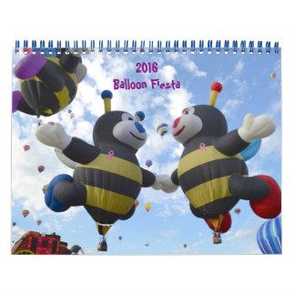 Calendario de la fiesta de 2016 globos