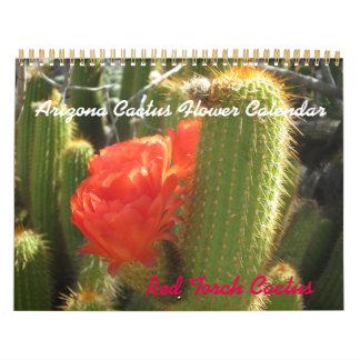 Calendario de la flor del cactus de Arizona