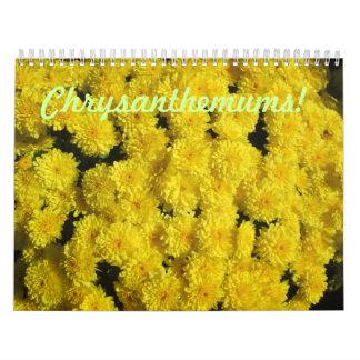 Calendario de la flor del crisantemo