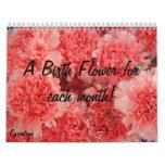 Calendario de la flor del nacimiento