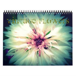 Calendario de la flor del vintage