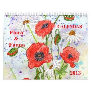 """Calendario de la """"flora y de la fauna"""""""