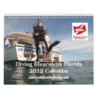 Calendario de la Florida 2012 del buceo con escafa