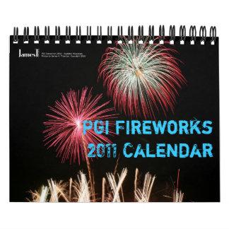 Calendario de la foto 2011 de los fuegos artificia