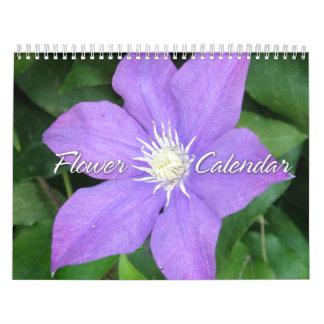 Calendario de la foto de la flor