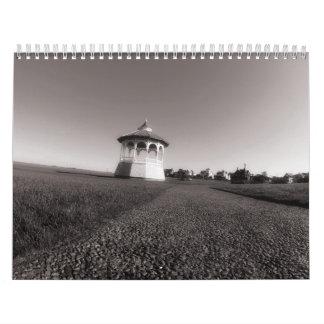 Calendario de la foto de la isla B&W del Martha's