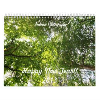 Calendario de la foto de la naturaleza