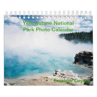Calendario de la foto del parque nacional de