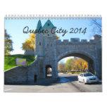 Calendario de la foto del viaje de la ciudad de Qu