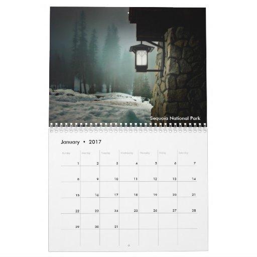 Calendario de la fotografía 2011 del paisaje de