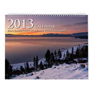 Calendario de la fotografía 2013 de la bella arte