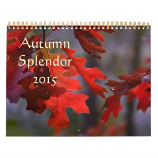 Calendario de la fotografía 2015 del otoño