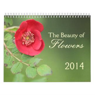 Calendario de la fotografía de 2014 flores