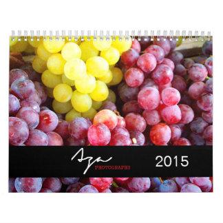 Calendario de la fotografía de 2015 frutas
