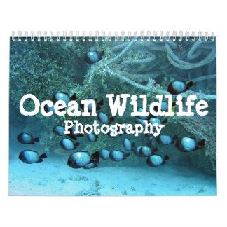Calendario de la fotografía de la fauna del océano