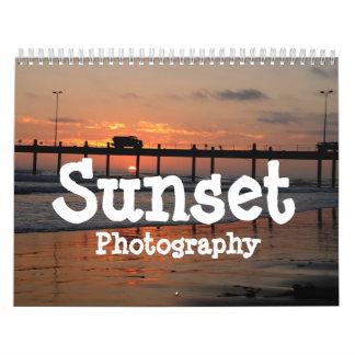 Calendario de la fotografía de la puesta del sol