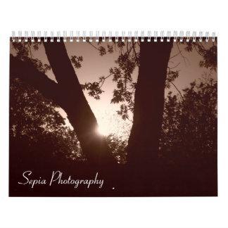 Calendario de la fotografía de la sepia