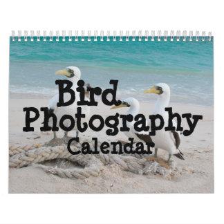 Calendario de la fotografía del pájaro