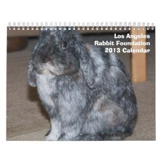 Calendario de la fundación 2013 del conejo de Los