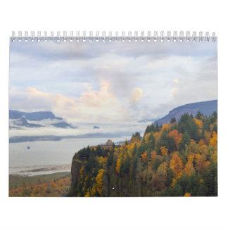 Calendario de la garganta del río Columbia