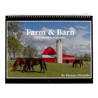 Calendario de la granja y del granero 2017 de Tom