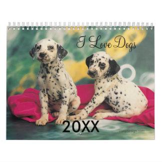 Calendario de la impresión de la foto de los perro