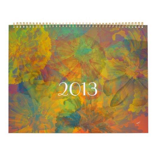 Calendario de la impresión floral - 2013