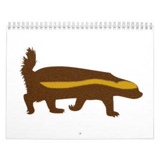 Calendario de la insignia de la miel