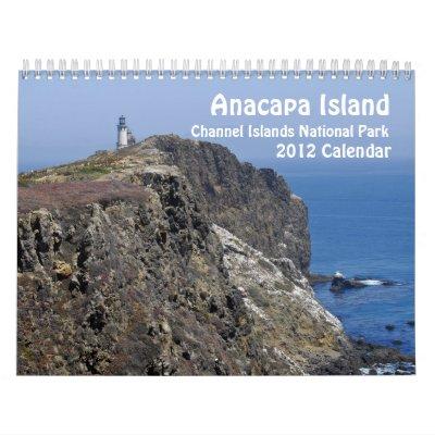 Calendario de la isla 2012 de Anacapa