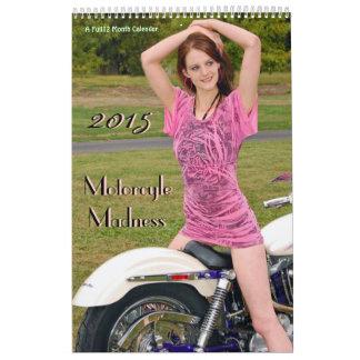 Calendario de la locura de la motocicleta