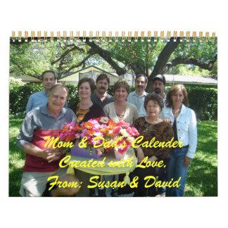 Calendario de la mamá y del papá 2008