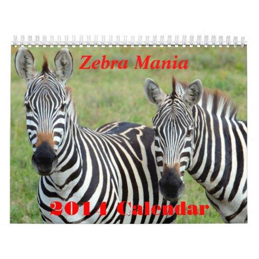 Calendario de la manía 2014 de la cebra