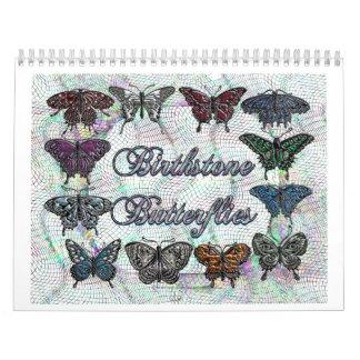Calendario de la mariposa de Birthstone